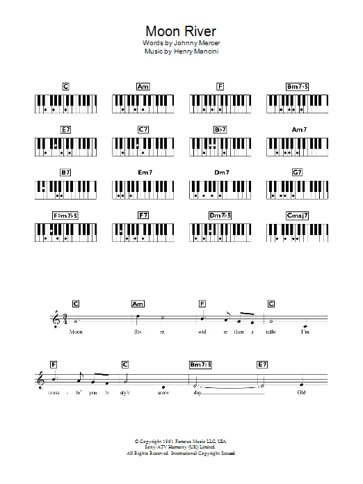 Moon River - Sheet Music to Download