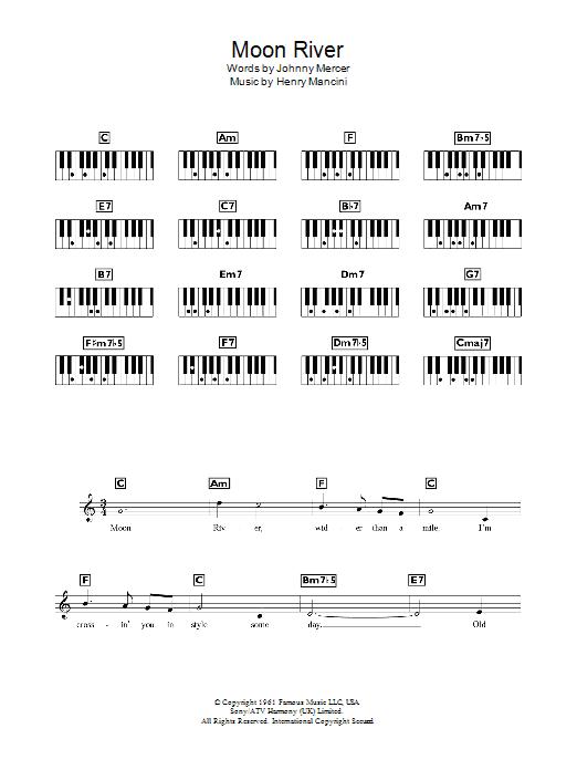 Moon River Andy Williams Keyboard