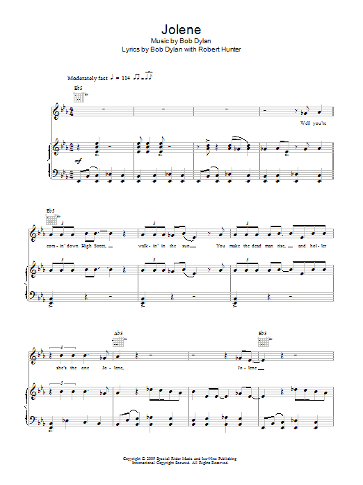 Jolene Sheet Music