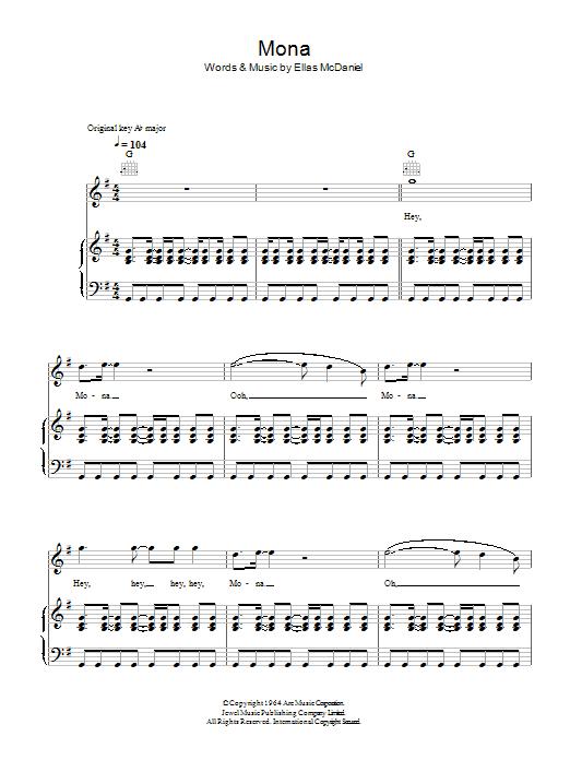 Mona Sheet Music