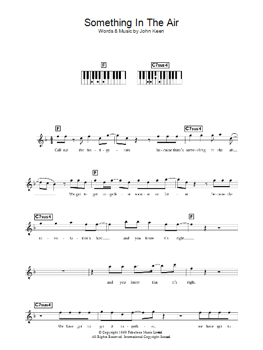 Something In The Air (Piano Chords/Lyrics)