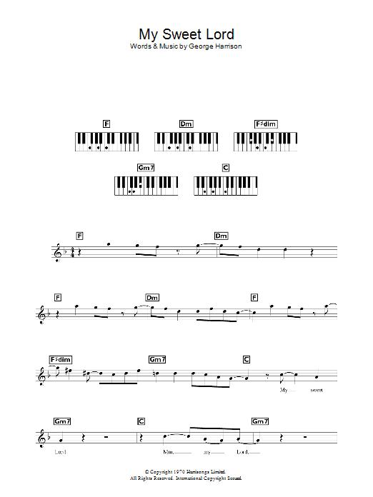 My Sweet Lord | Sheet Music Direct