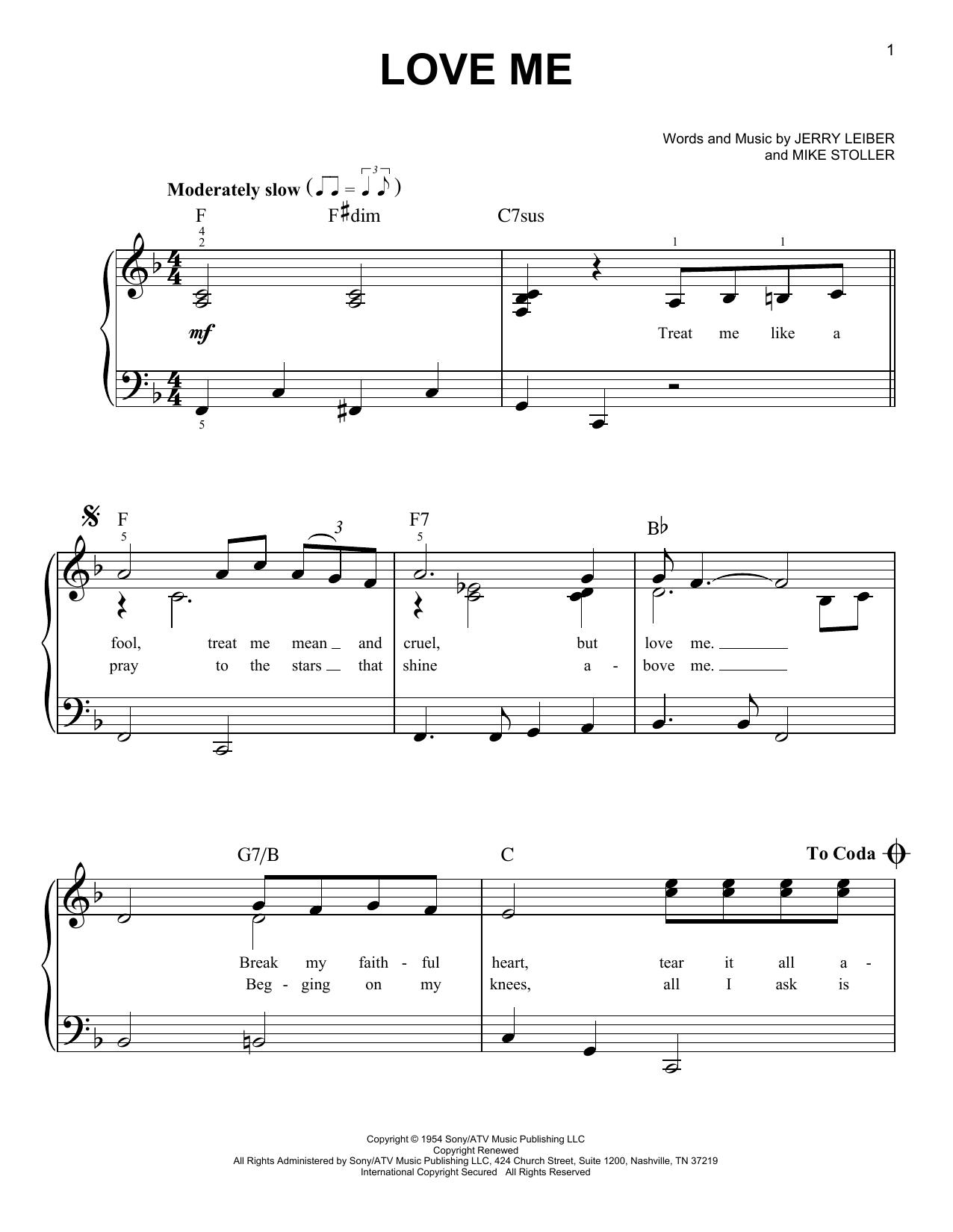 Love Me (Easy Piano)