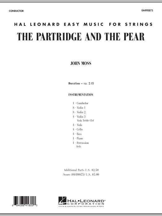 The Partridge and the Pear (COMPLETE) sheet music for orchestra by John Moss. Score Image Preview.