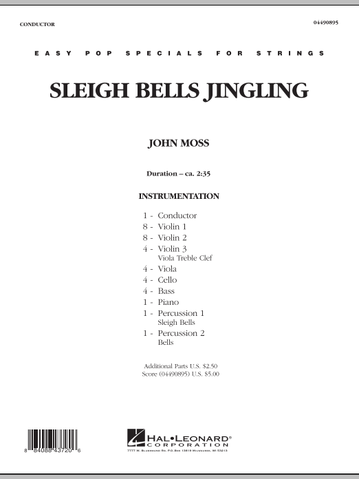 Sleigh Bells Jingling (COMPLETE) sheet music for orchestra by John Moss. Score Image Preview.