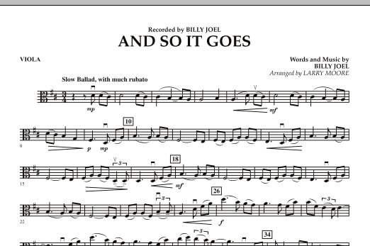 And So It Goes - Viola (Orchestra)