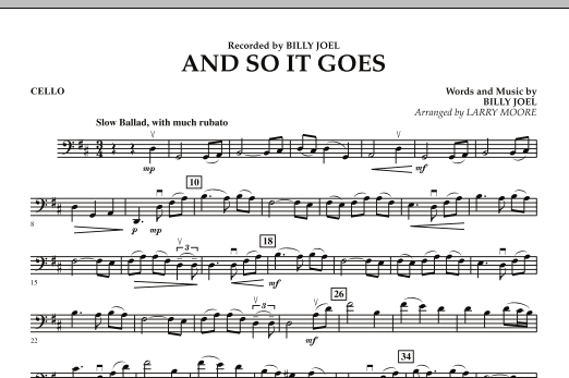 And So It Goes - Cello (Orchestra)