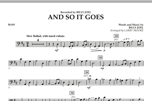 And So It Goes - Bass (Orchestra)