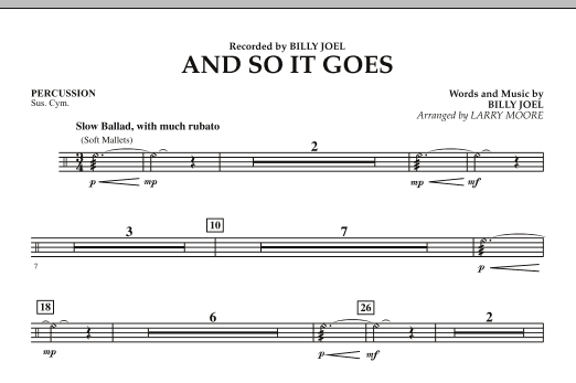 And So It Goes - Percussion (Orchestra)