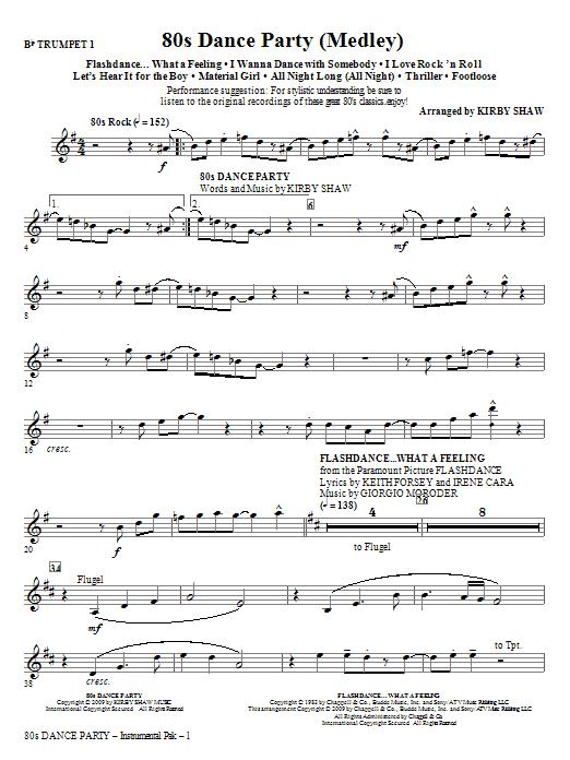 80s Dance Party (Medley) - Trumpet 1 (Choir Instrumental Pak)