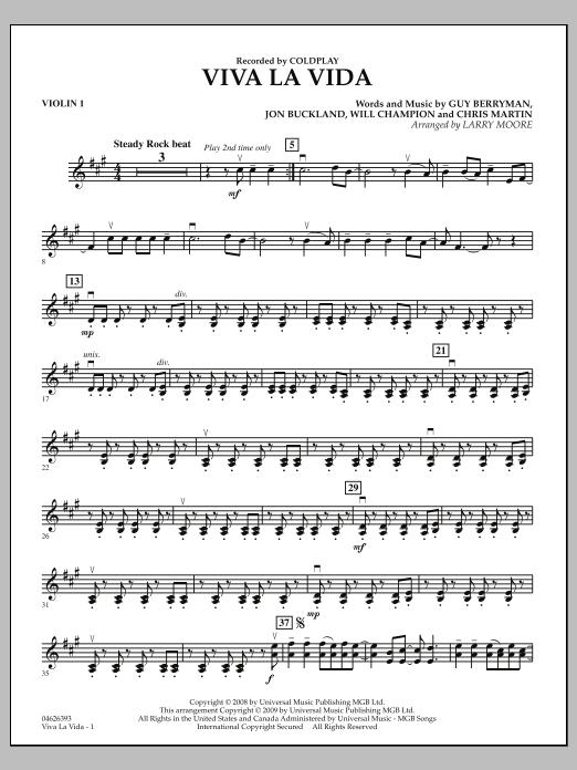 Viva La Vida - Violin 1 (Orchestra)