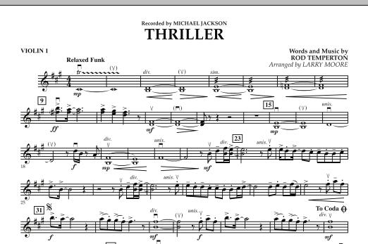 Thriller - Violin 1 (Orchestra)