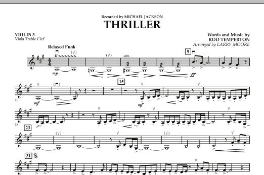 Thriller - Violin 3 (Viola T.C.) (Orchestra)