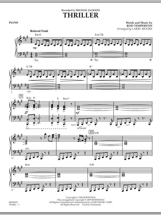 Thriller - Piano (Orchestra)