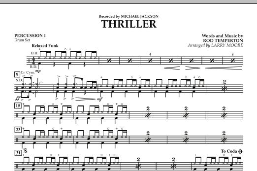 Thriller - Percussion 1 (Orchestra)