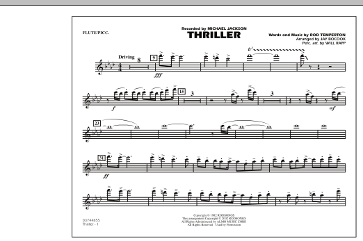 Thriller - Flute/Piccolo (Marching Band)