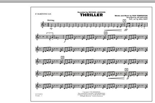 Thriller - Eb Baritone Sax (Marching Band)