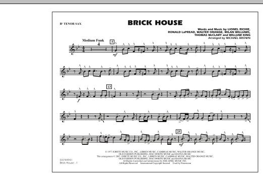 Brick House - Bb Tenor Sax (Marching Band)