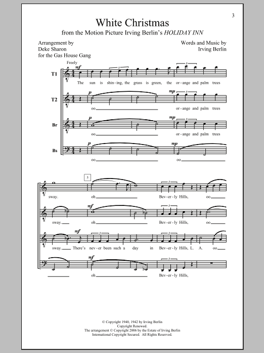 White Christmas (arr. Deke Sharon) Sheet Music