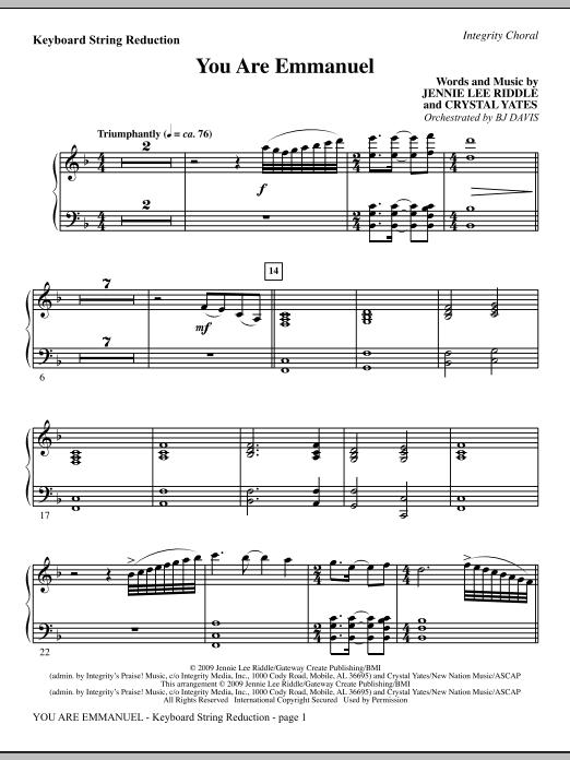You Are Emmanuel - Rhythm Sheet Music