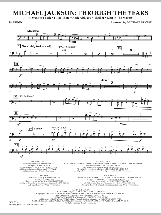 Michael Jackson: Through The Years - Bassoon (Concert Band)