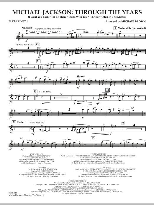 Michael Jackson: Through The Years - Bb Clarinet 1 (Concert Band)