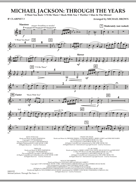 Michael Jackson: Through The Years - Bb Clarinet 3 (Concert Band)