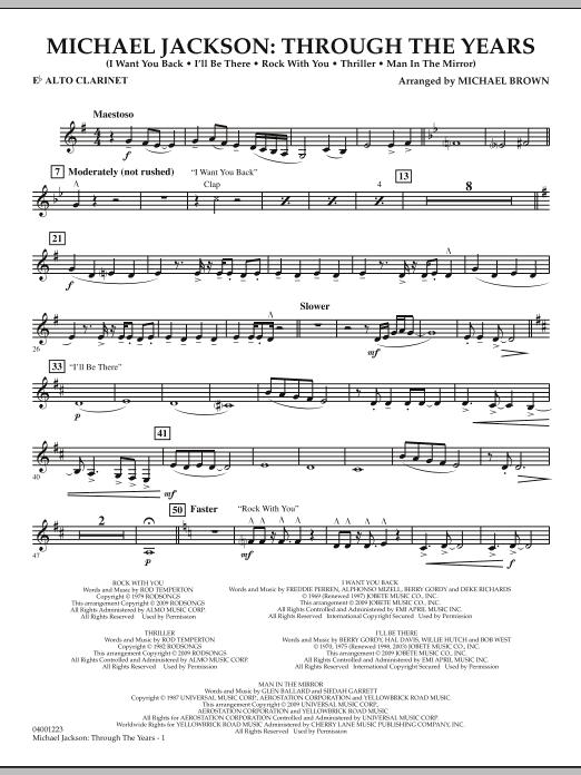 Michael Jackson: Through The Years - Eb Alto Clarinet (Concert Band)