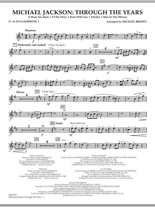 Michael Jackson: Through The Years - Eb Alto Saxophone 1 (Concert Band)