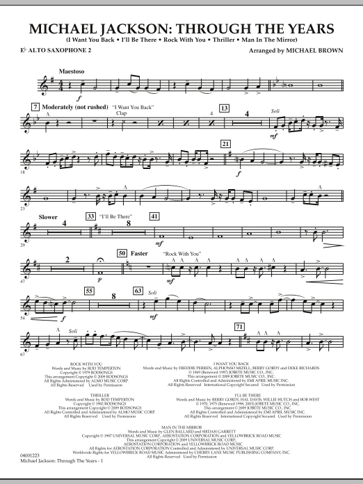Michael Jackson: Through The Years - Eb Alto Saxophone 2 (Concert Band)