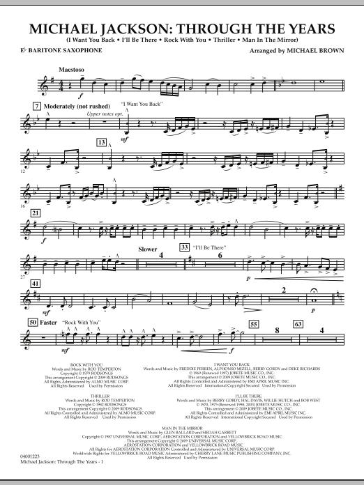 Michael Jackson: Through The Years - Eb Baritone Saxophone (Concert Band)