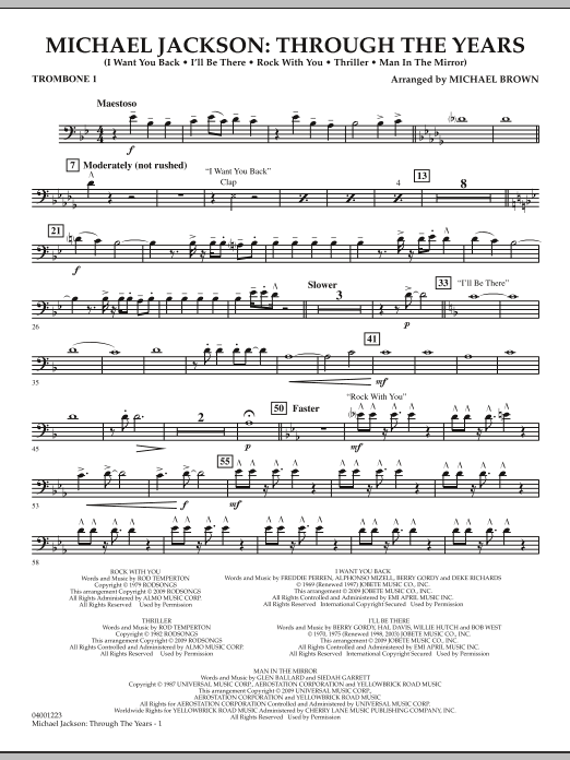 Michael Jackson: Through The Years - Trombone 1 (Concert Band)