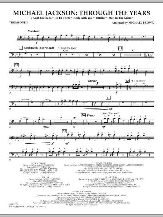 Michael Jackson: Through The Years - Trombone 2 (Concert Band)