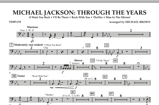 Michael Jackson: Through The Years - Timpani (Concert Band)