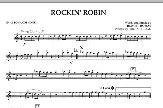 Rockin' Robin - Eb Alto Saxophone 1 (Concert Band)