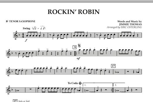 Rockin' Robin - Bb Tenor Saxophone (Concert Band)