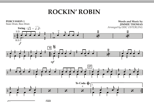 Rockin' Robin - Percussion 1 (Concert Band)