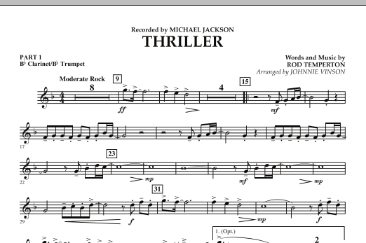 Thriller - Score & Parts by No Composer