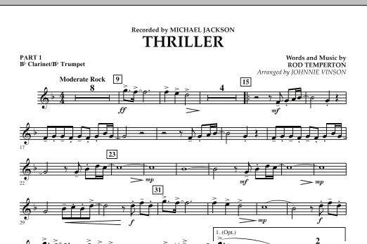 Thriller - Pt.1 - Bb Clarinet/Bb Trumpet (Concert Band: Flex-Band)