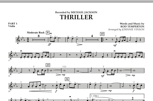 Thriller - Pt.1 - Violin (Concert Band: Flex-Band)