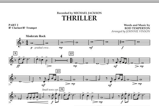 Thriller - Pt.2 - Bb Clarinet/Bb Trumpet (Concert Band: Flex-Band)