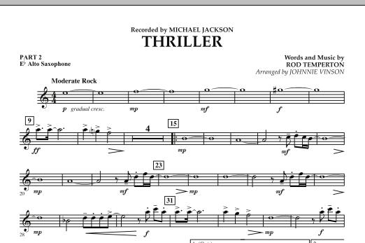 Thriller - Pt.2 - Eb Alto Saxophone (Concert Band: Flex-Band)