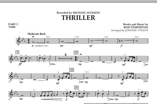 Thriller - Pt.2 - Violin (Concert Band: Flex-Band)