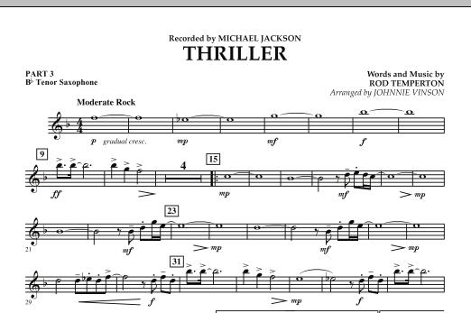 Thriller - Pt.3 - Bb Tenor Saxophone (Concert Band: Flex-Band)