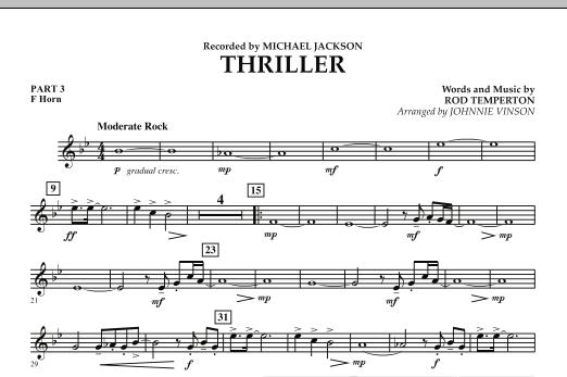Thriller - Pt.3 - F Horn (Concert Band: Flex-Band)