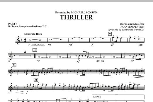 Thriller - Pt.4 - Bb Tenor Sax/Bar. T.C. (Concert Band: Flex-Band)