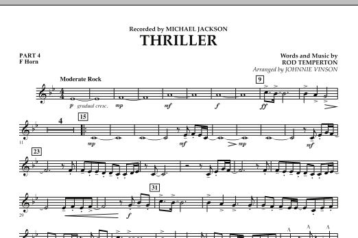 Thriller - Pt.4 - F Horn (Concert Band: Flex-Band)