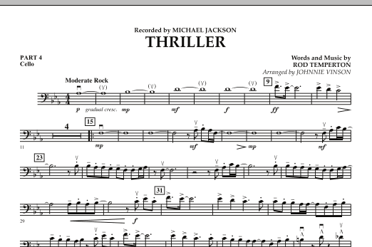 Thriller - Pt.4 - Cello (Concert Band: Flex-Band)