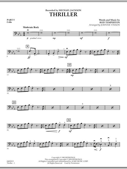 Thriller - Pt.5 - Cello (Concert Band: Flex-Band)