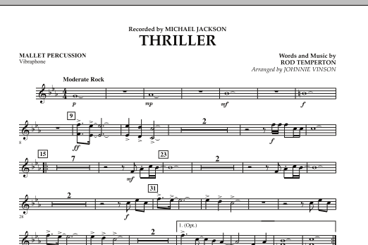 Thriller - Mallet Percussion (Concert Band: Flex-Band)